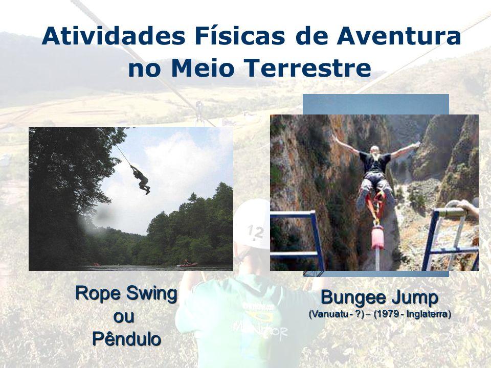 Atividades Físicas de Aventura no Meio Terrestre Rope Swing ouPêndulo Bungee Jump (Vanuatu - ?) – (1979 - Inglaterra)