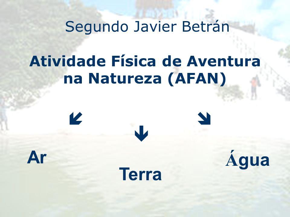 Segundo Javier Betrán Atividade Física de Aventura na Natureza (AFAN) Ar Terra Á gua