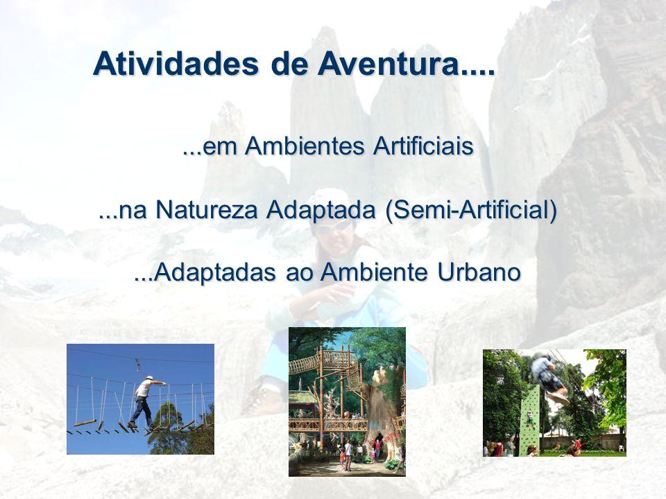 Atividades de Aventura.......em Ambientes Artificiais...na Natureza Adaptada (Semi-Artificial)...Adaptadas ao Ambiente Urbano