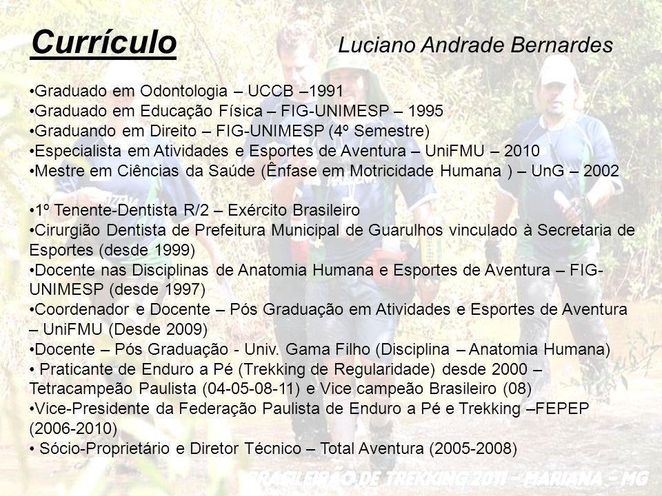 Currículo Graduado em Odontologia – UCCB –1991 Graduado em Educação Física – FIG-UNIMESP – 1995 Graduando em Direito – FIG-UNIMESP (4º Semestre) Espec