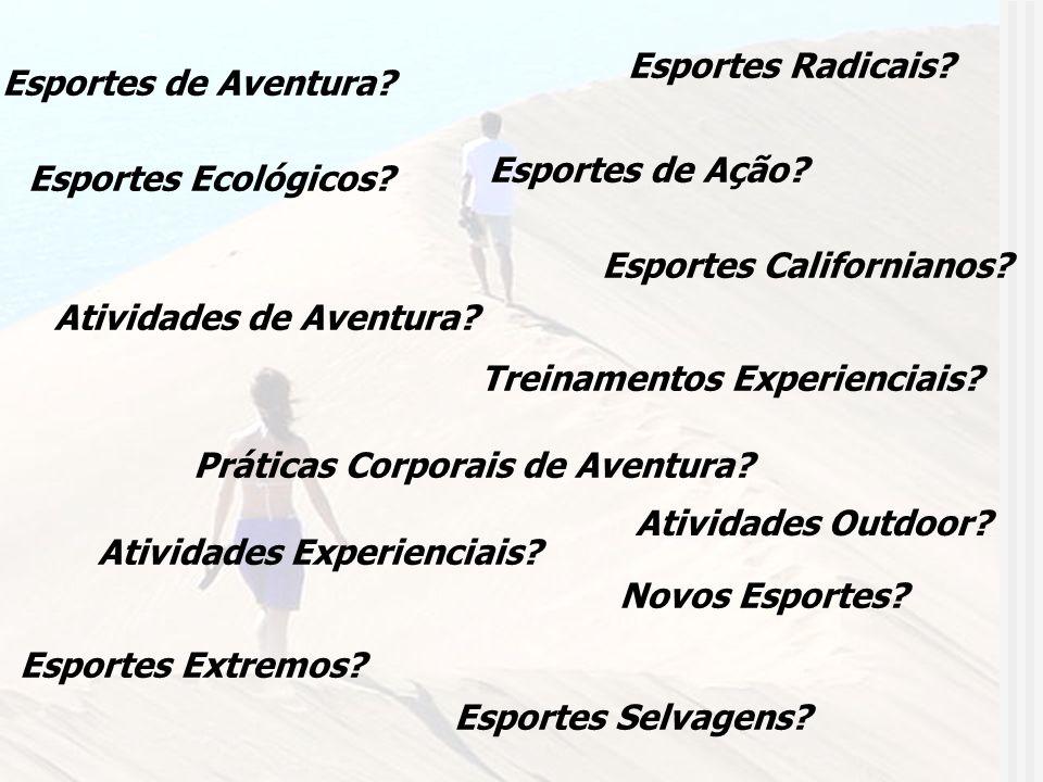 Esportes de Aventura? Esportes de Ação? Atividades de Aventura? Esportes Radicais? Novos Esportes? Esportes Extremos? Práticas Corporais de Aventura?