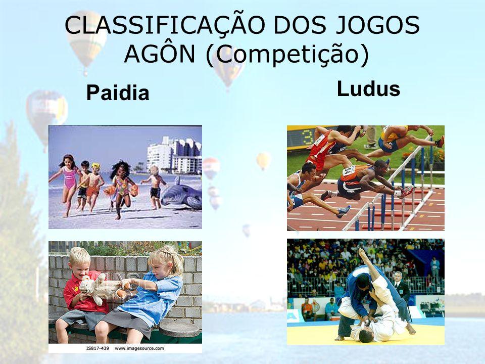 CLASSIFICAÇÃO DOS JOGOS AGÔN (Competição) Paidia Ludus