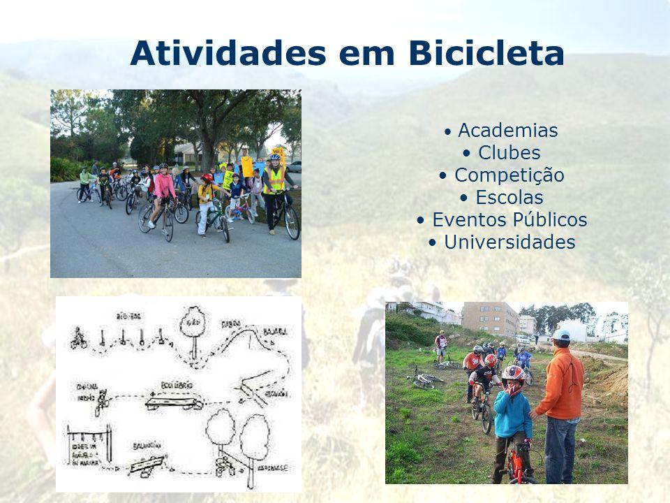 Atividades em Bicicleta Academias Clubes Competição Escolas Eventos Públicos Universidades