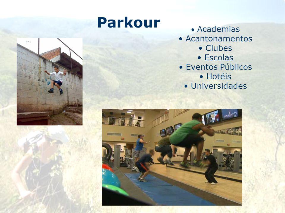 Parkour Academias Acantonamentos Clubes Escolas Eventos Públicos Hotéis Universidades