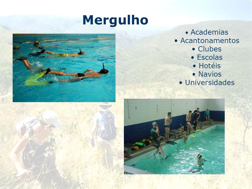 Mergulho Academias Acantonamentos Clubes Escolas Hotéis Navios Universidades