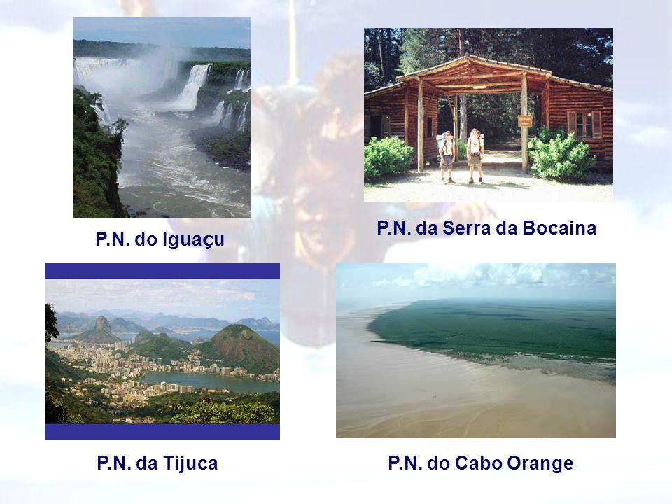 P.N. do Igua ç u P.N. da Tijuca P.N. da Serra da Bocaina P.N. do Cabo Orange