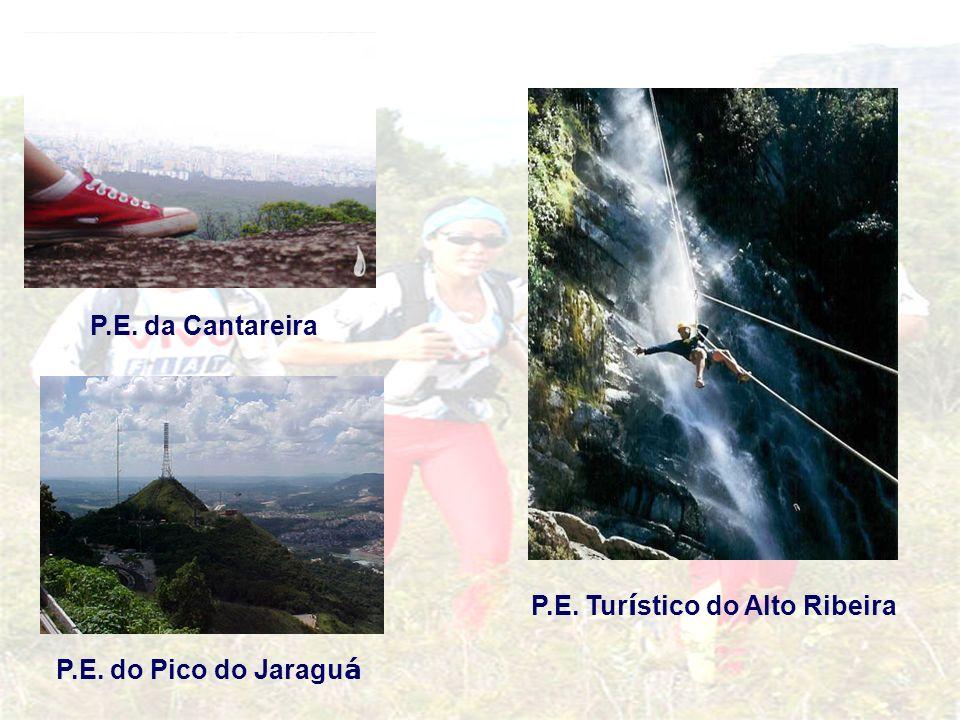P.E. da Cantareira P.E. Tur í stico do Alto Ribeira P.E. do Pico do Jaragu á
