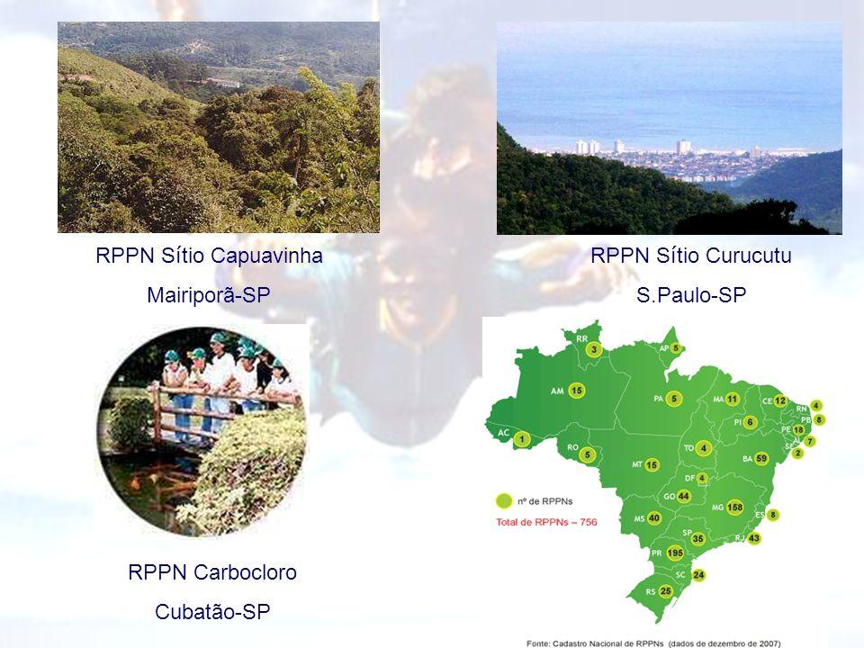 RPPN S í tio Curucutu S.Paulo-SP RPPN S í tio Capuavinha Mairiporã-SP RPPN Carbocloro Cubatão-SP