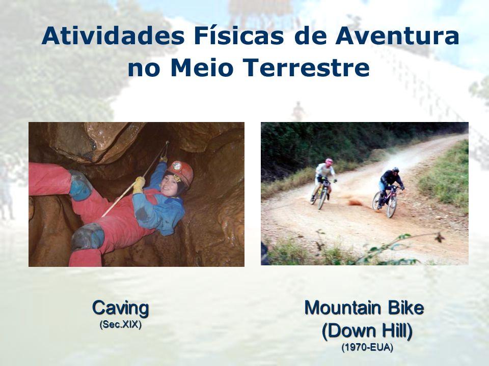 Atividades Físicas de Aventura no Meio TerrestreCaving(Sec.XIX) Mountain Bike (Down Hill) (1970-EUA)