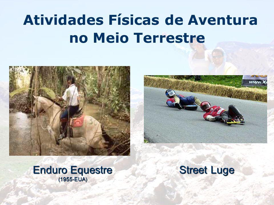 Atividades Físicas de Aventura no Meio Terrestre Enduro Equestre (1955-EUA) Street Luge