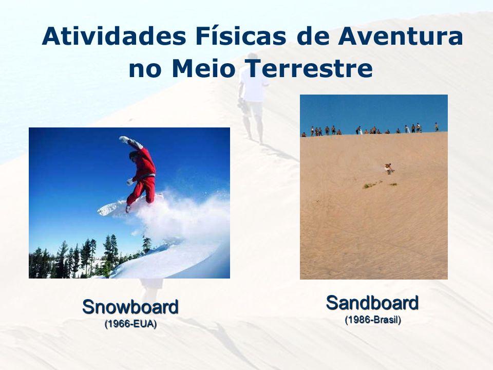 Atividades Físicas de Aventura no Meio TerrestreSnowboard(1966-EUA) Sandboard(1986-Brasil)