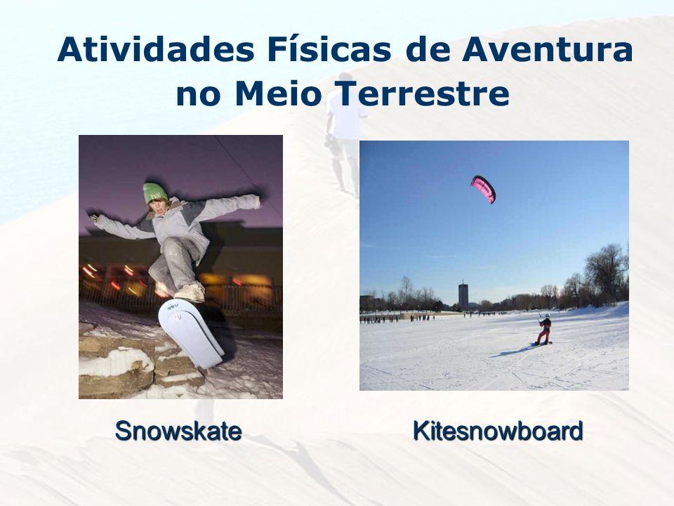 Atividades Físicas de Aventura no Meio TerrestreSnowskateKitesnowboard