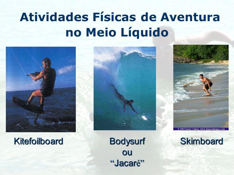 Atividades Físicas de Aventura no Meio LíquidoKitefoilboardSkimboardBodysurfou Jacar é Jacar é