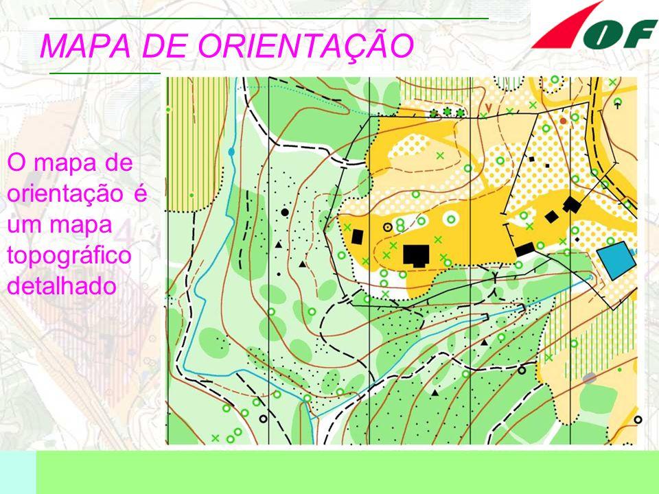 MAPA DE ORIENTAÇÃO O mapa de orientação é um mapa topográfico detalhado