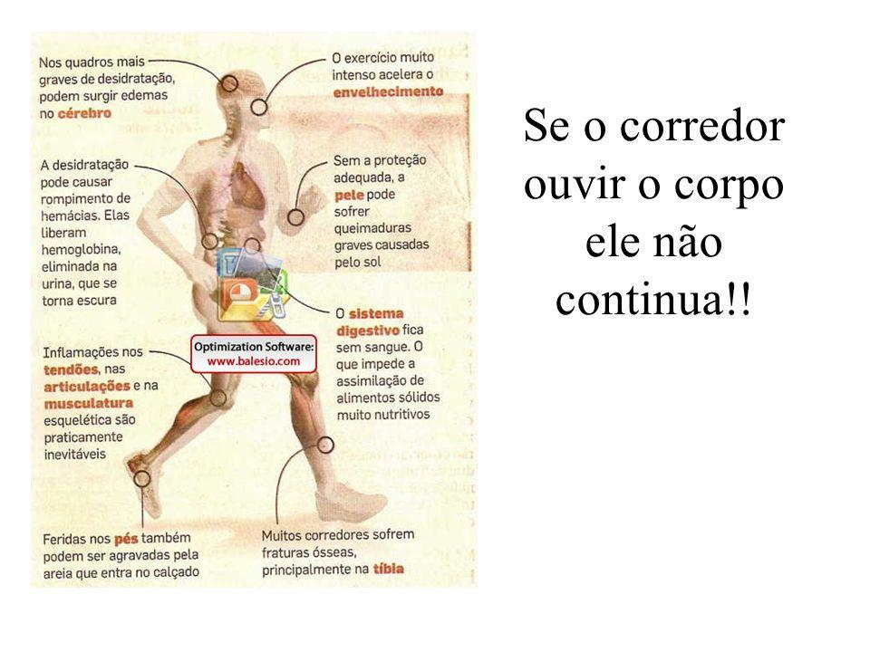 Se o corredor ouvir o corpo ele não continua!!