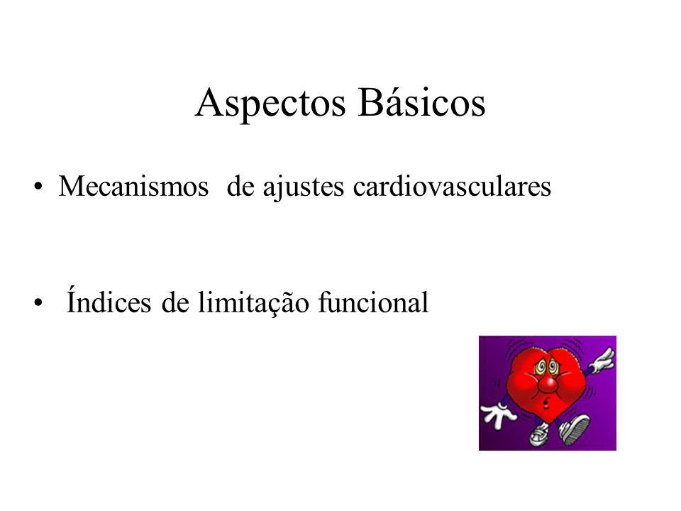 Aspectos Básicos Mecanismos de ajustes cardiovasculares Índices de limitação funcional