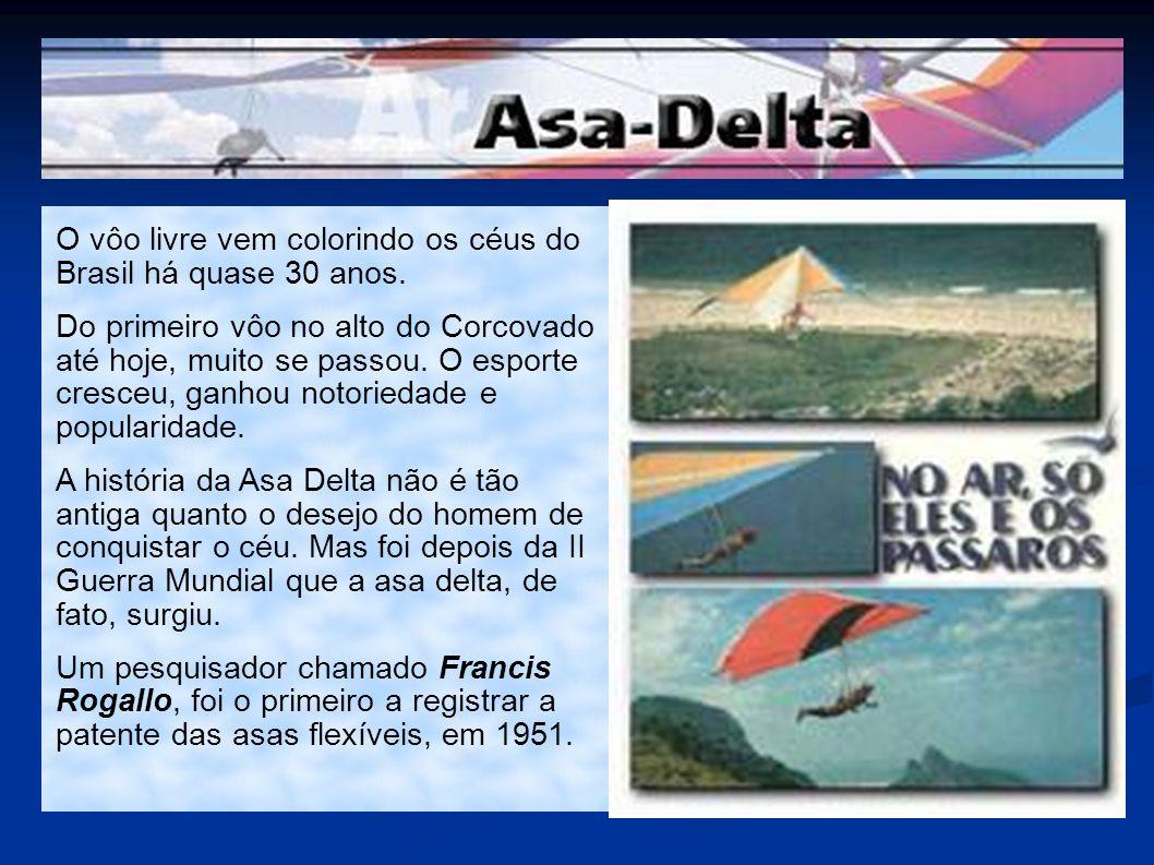 O primeiro desenho de uma asa delta como conhecemos atualmente foi realizado por Al Hartig em 1966.