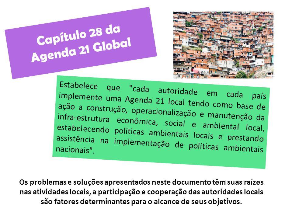 Capítulo 28 da Agenda 21 Global Estabelece que