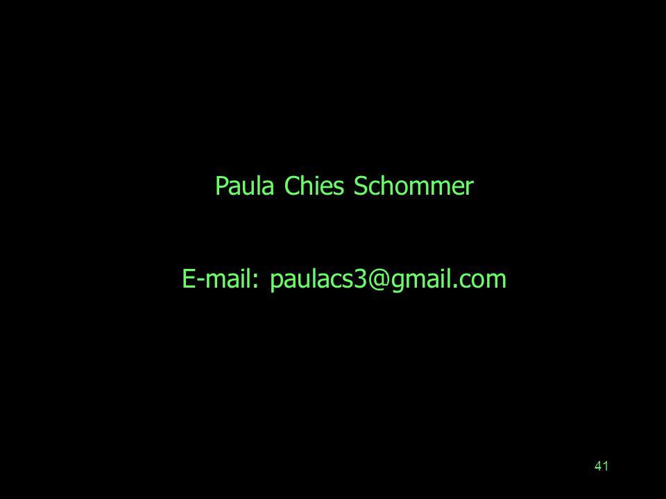 41 Paula Chies Schommer E-mail: paulacs3@gmail.com