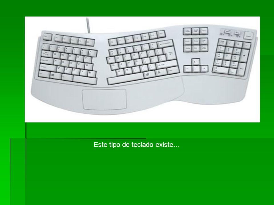 Este tipo de teclado existe…