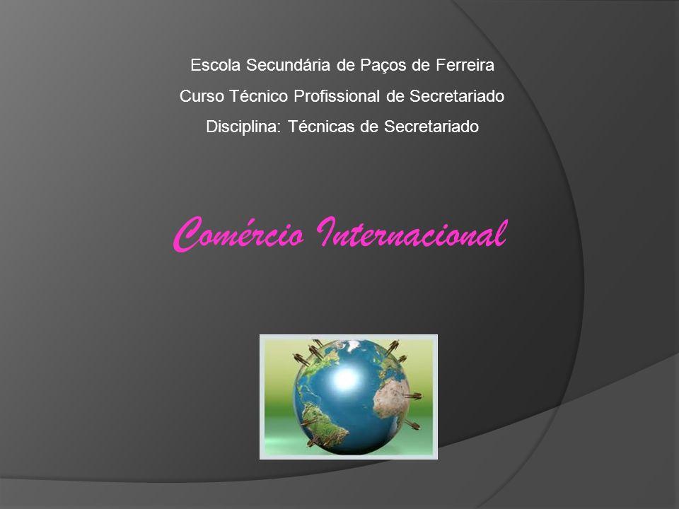 Comércio Internacional Escola Secundária de Paços de Ferreira Curso Técnico Profissional de Secretariado Disciplina: Técnicas de Secretariado