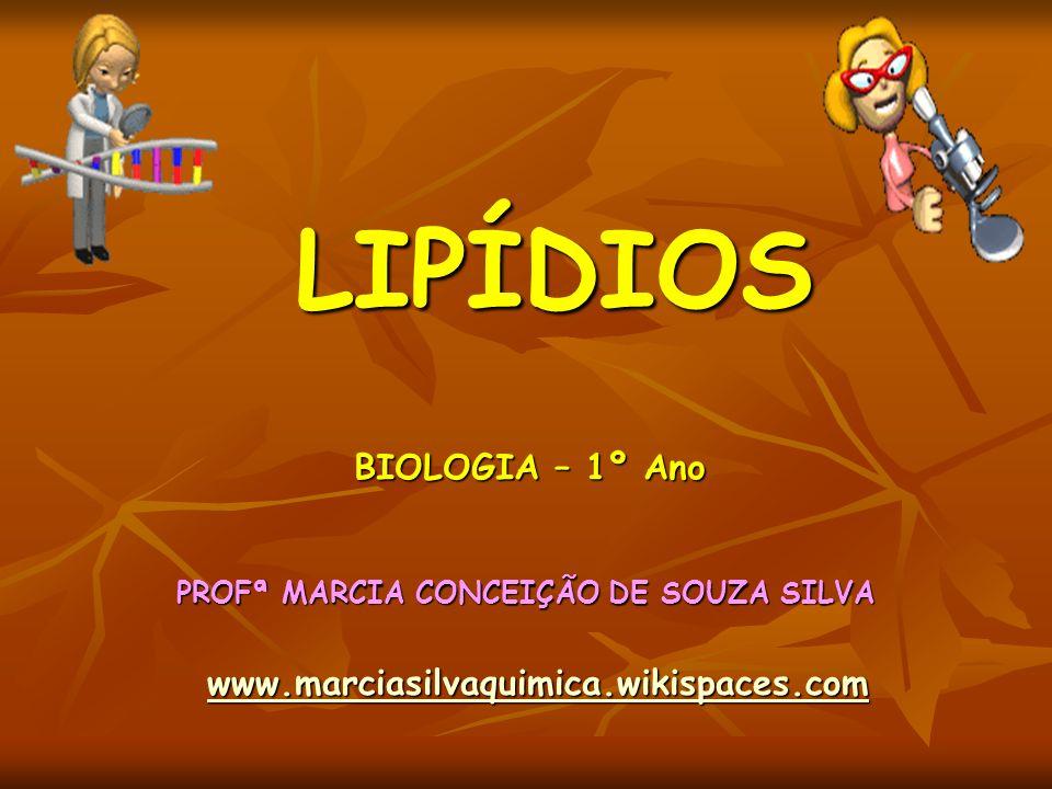 LIPÍDIOS PROFª MARCIA CONCEIÇÃO DE SOUZA SILVA www.marciasilvaquimica.wikispaces.com BIOLOGIA – 1º Ano