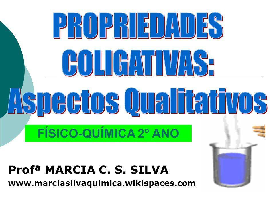 Profª MARCIA C. S. SILVA www.marciasilvaquimica.wikispaces.com FÍSICO-QUÍMICA 2º ANO