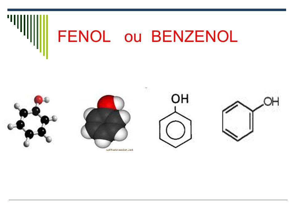 Grupo Funcional FENOL É um grupo de átomos em que a Hidroxila [OH] está ligada à um carbono de um anel aromático.