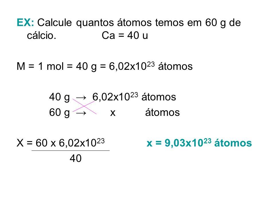NÚMERO DE AVOGADRO & CONCEITO DE MOL 6,02x10 23 1 mol coincide com a constante de Avogadro. Pode-se calcular a quantidade de entidades presentes em 1