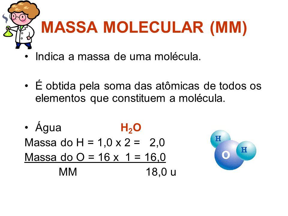 MASSA ATÔMICA (MA) É aquela massa constante na tabela periódica. Na maioria das vezes não é um número inteiro.