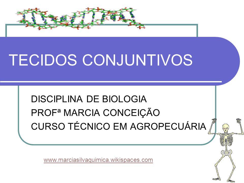 TECIDOS CONJUNTIVOS DISCIPLINA DE BIOLOGIA PROFª MARCIA CONCEIÇÃO CURSO TÉCNICO EM AGROPECUÁRIA www.marciasilvaquimica.wikispaces.com