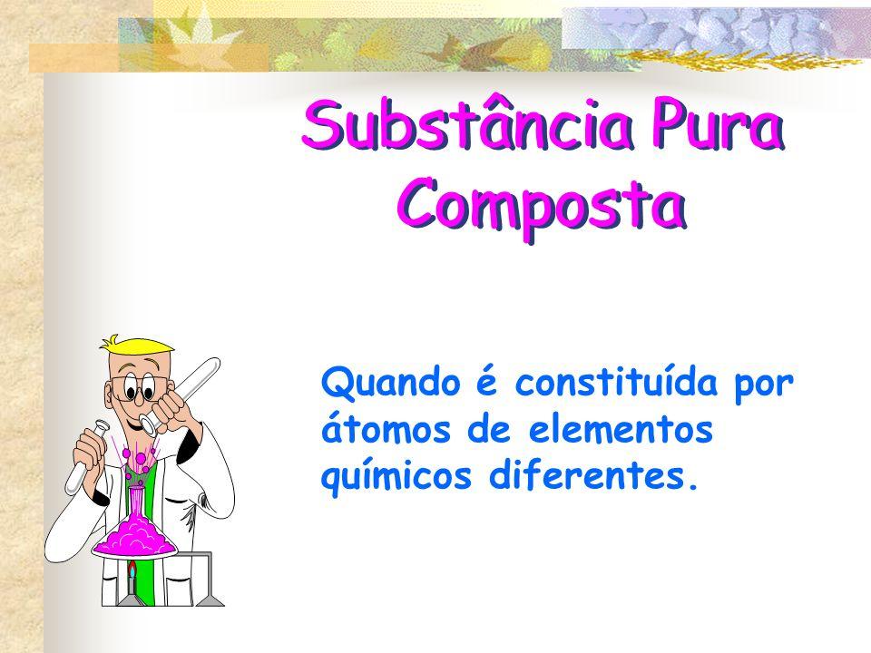 Substância Pura Simples Quando é constituída por átomos do mesmo elemento químico.