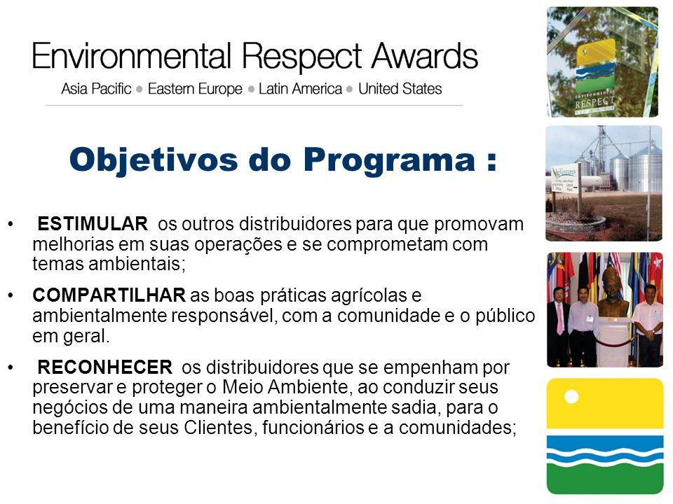 Objetivos do Programa : ESTIMULAR os outros distribuidores para que promovam melhorias em suas operações e se comprometam com temas ambientais; COMPAR