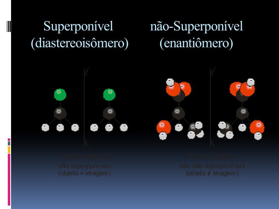 Enantiômero Nos compostos enantioméricos, um é a imagem especular do outro, ou seja, um é a imagem refletida do outro. No entanto, eles não são superp