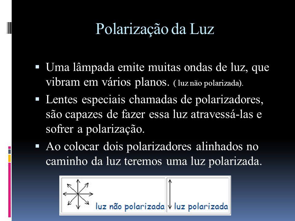 Polarização da Luz Todos os isômeros possuem propriedades físicas diferentes, tais como PF, PE e densidade. Mas os isômeros ópticos não possuem esta d