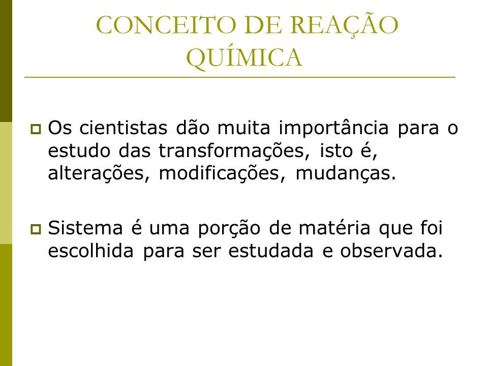 LEI DA CONSERVAÇÃO DAS MASSAS ÁGUA GÁS HIDROGÊNIO + GÁS OXIGÊNIO 18 g 2 g 16 g Reagente Produtos