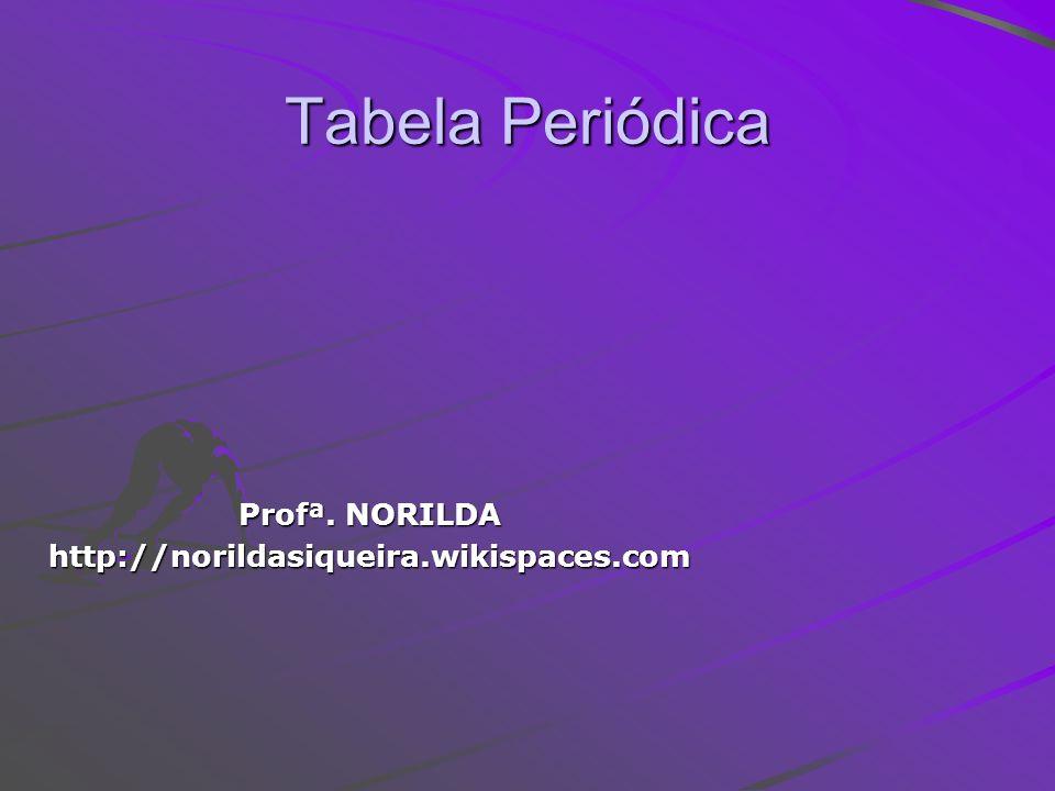 Tabela Periódica Profª. NORILDA http://norildasiqueira.wikispaces.com
