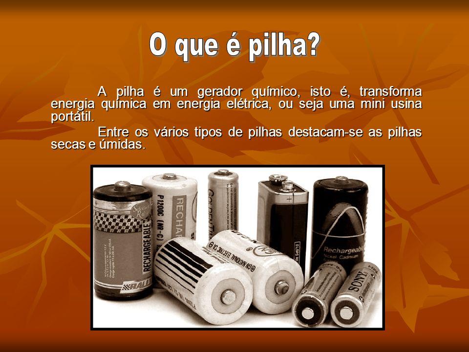 As pilhas elétricas foram idealizadas por Alessandro Volta em 1800.