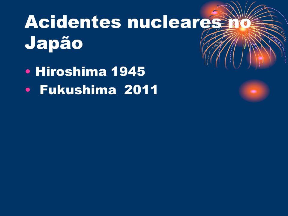 Acidentes nucleares no Japão Hiroshima 1945 Fukushima 2011