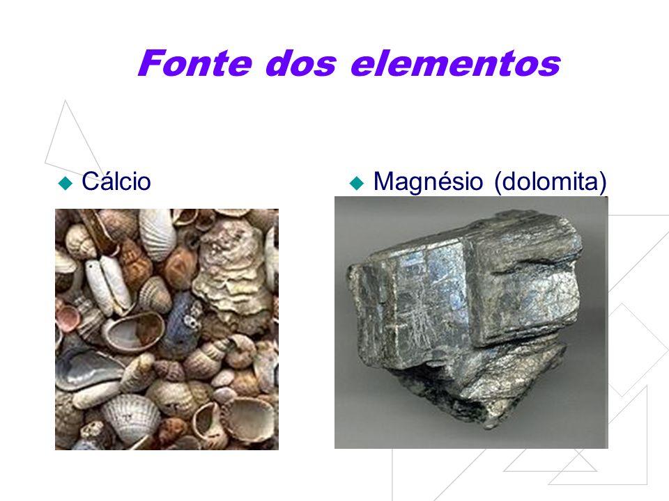 Ferro e Fósforo Ferro (hematita) Fósforo (apatita)