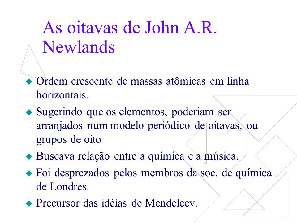 Mendeleev Dimitri Ivanovich Mendeleev organizou os elementos na forma da tabela periódica atual.