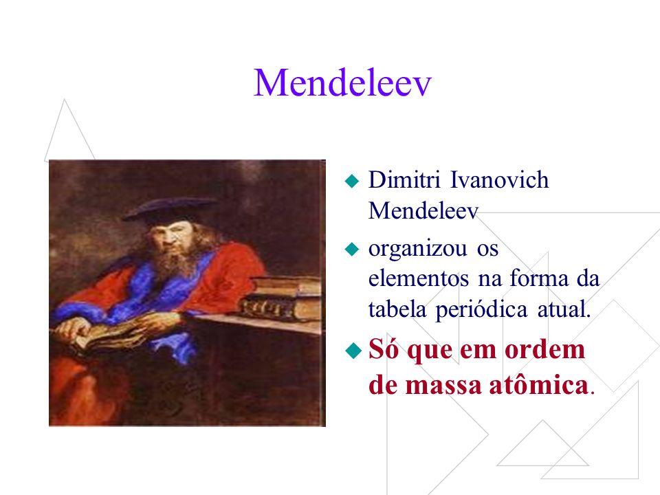 Mendeleev criou uma carta para cada um dos 63 elementos conhecidos, nessas cartas continha propriedades químicas e físicas dos elementos.