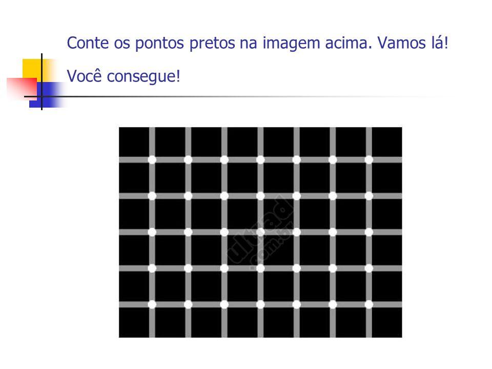 Conte os pontos pretos na imagem acima. Vamos lá! Você consegue!