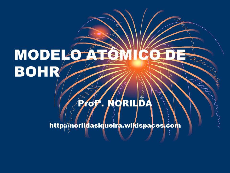 MODELO ATÔMICO DE BOHR Profª. NORILDA http://norildasiqueira.wikispaces.com
