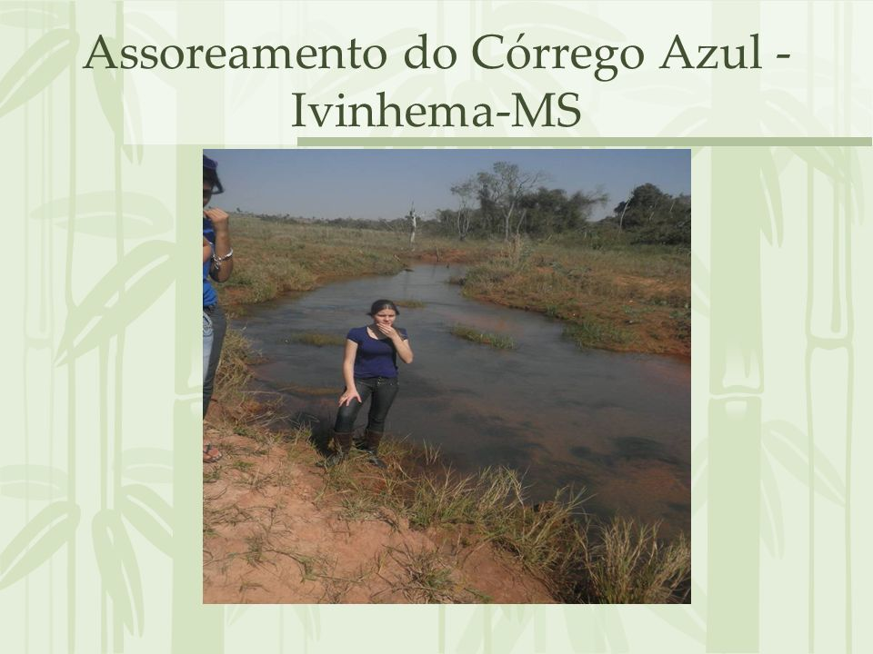 Assoreamento do Córrego Azul - Ivinhema-MS