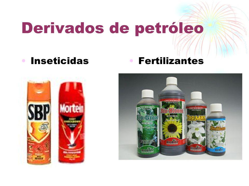 Derivados de petróleo DetergentesMedicamentos