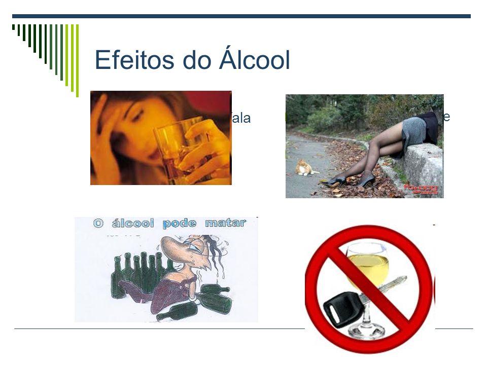 Efeitos do álcool O etanol é formado por moléculas pequenas e de fácil absorção. No estômago vazio o efeito é seis vezes maior. No fígado o álcool é c
