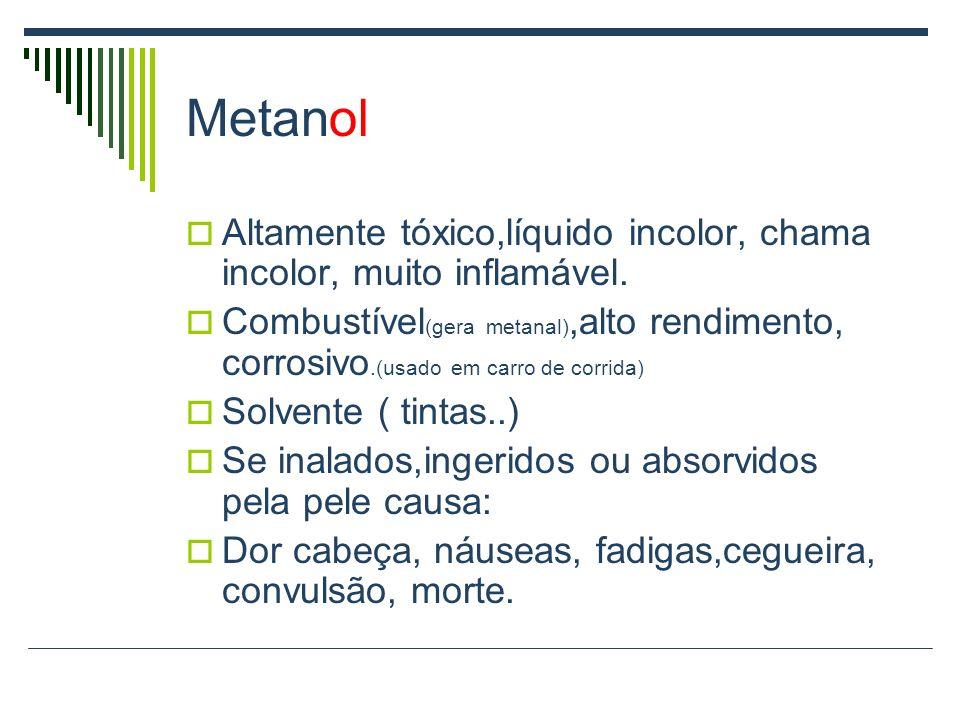 Nomenclatura dos Álcoois Apresentam o grupo OH (hidroxila).
