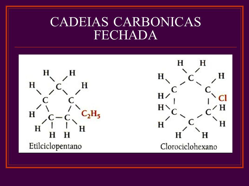 CADEIAS CARBONICAS FECHADA