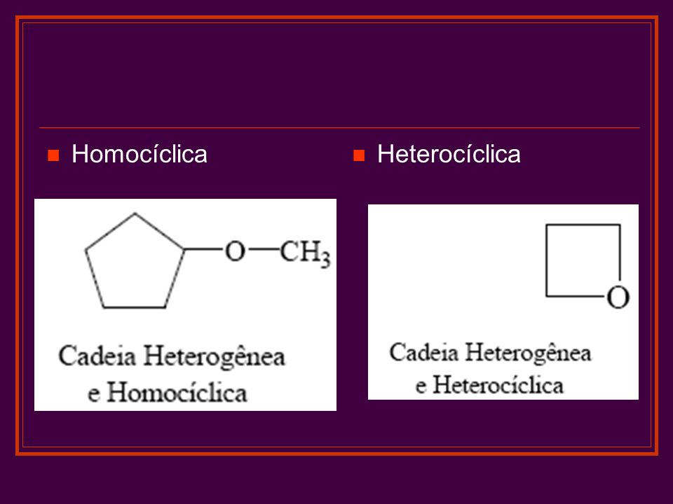 Homocíclica Heterocíclica